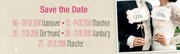 Save The Date – Hochzeitstage 2018